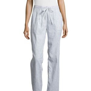 Laundry by Shelli Segal Striped Linen Beach Pants